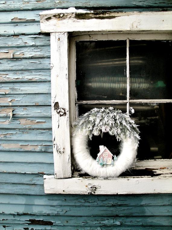coronas de navidad casita