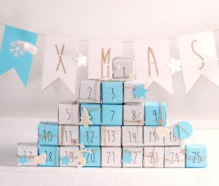 etiquetas para tus calendarios de Adviento en cajas de cubo