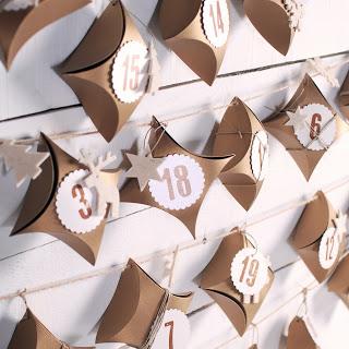 etiquetas para tus calendarios de Adviento muy craft