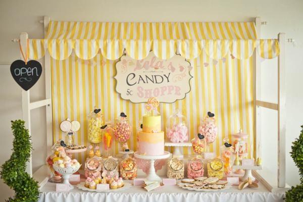 decoracion para stand de dulces