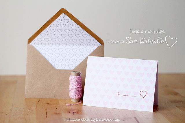 imprimibles gratuitos carta de san valentin