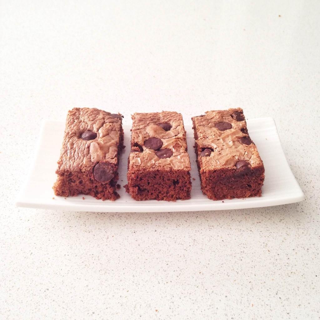 brownie de nutella con chips de chocolate