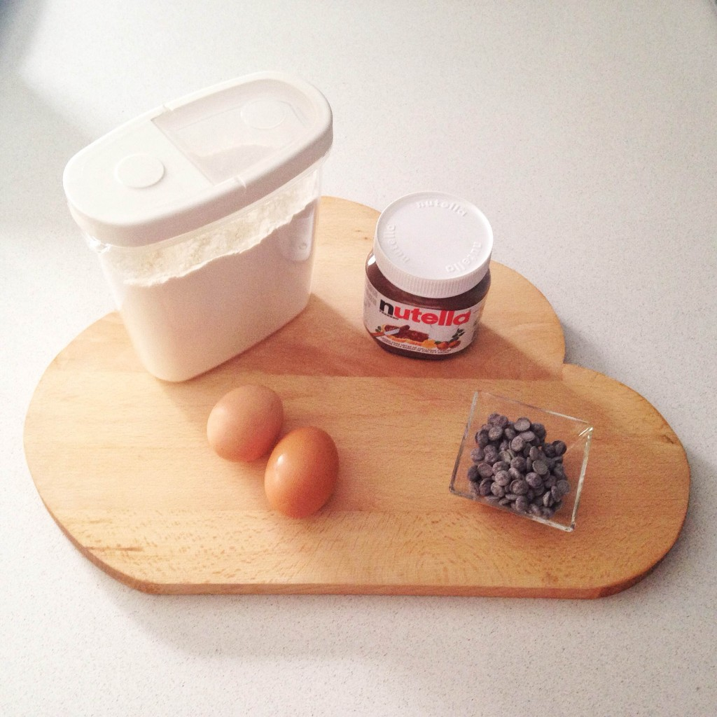 ingredientes brownie de nutella