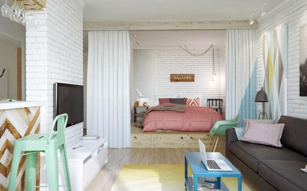 dormitorio en dos alturas