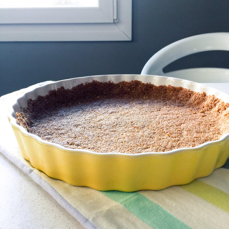 base de galletas de tarta de limón sin huevo