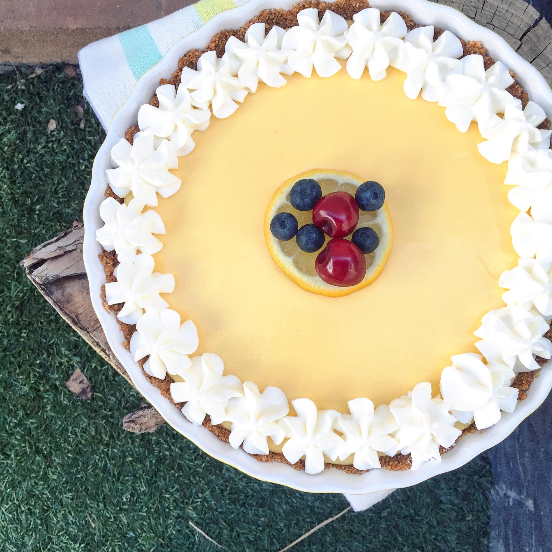 tarta de limón sin huevo y sin horno