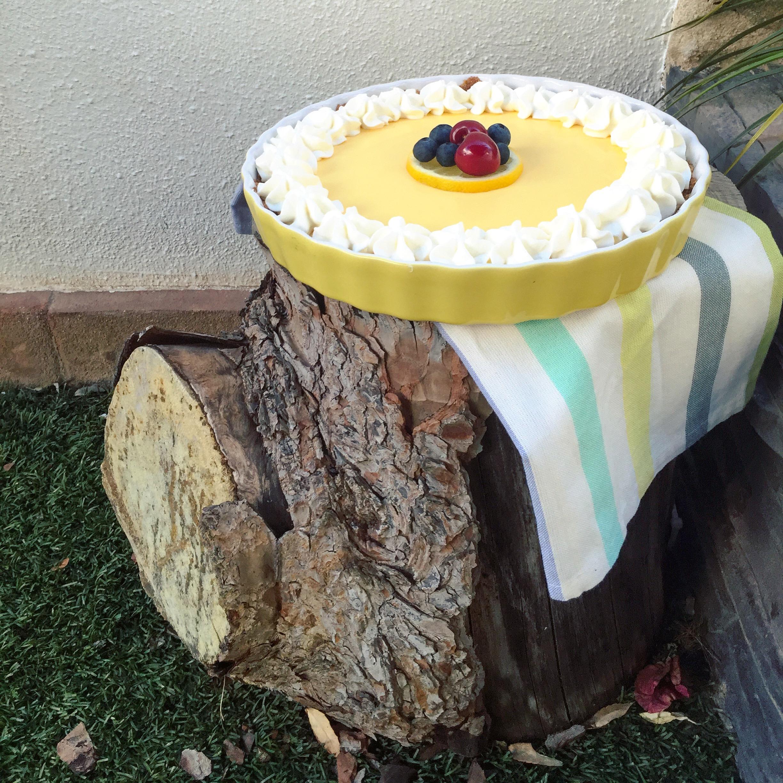 tarta de limón sin huevo