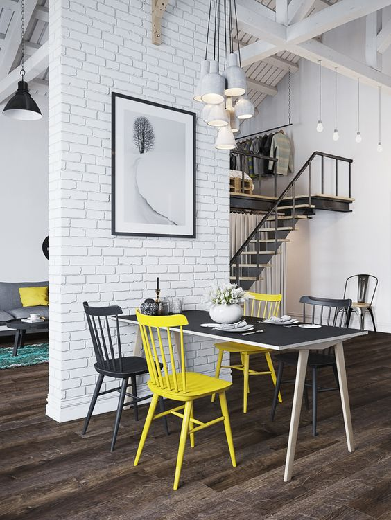 Escaleras en un loft urbanita