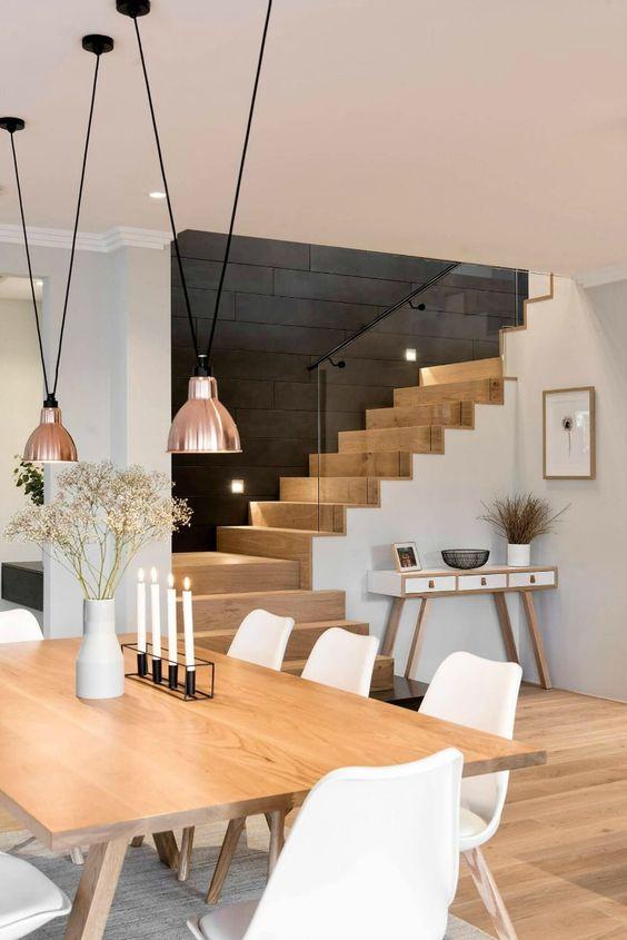 escaleras madera estilo nórdico