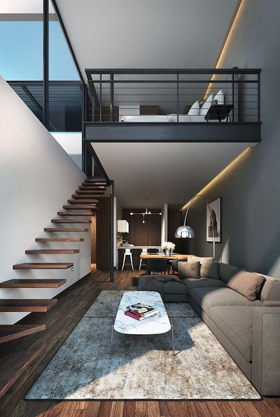 Escalera de peldaños de madera